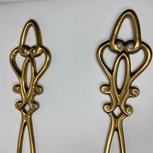 Vintage Accents - Vintage Brass Decorative Wall Candle Holders